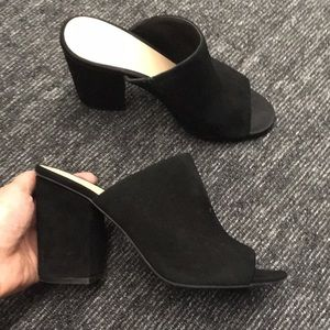 478916f162a1d BP Black Leather Mules Heels Slides.  38  0. Size 8 must see - black  leather heels